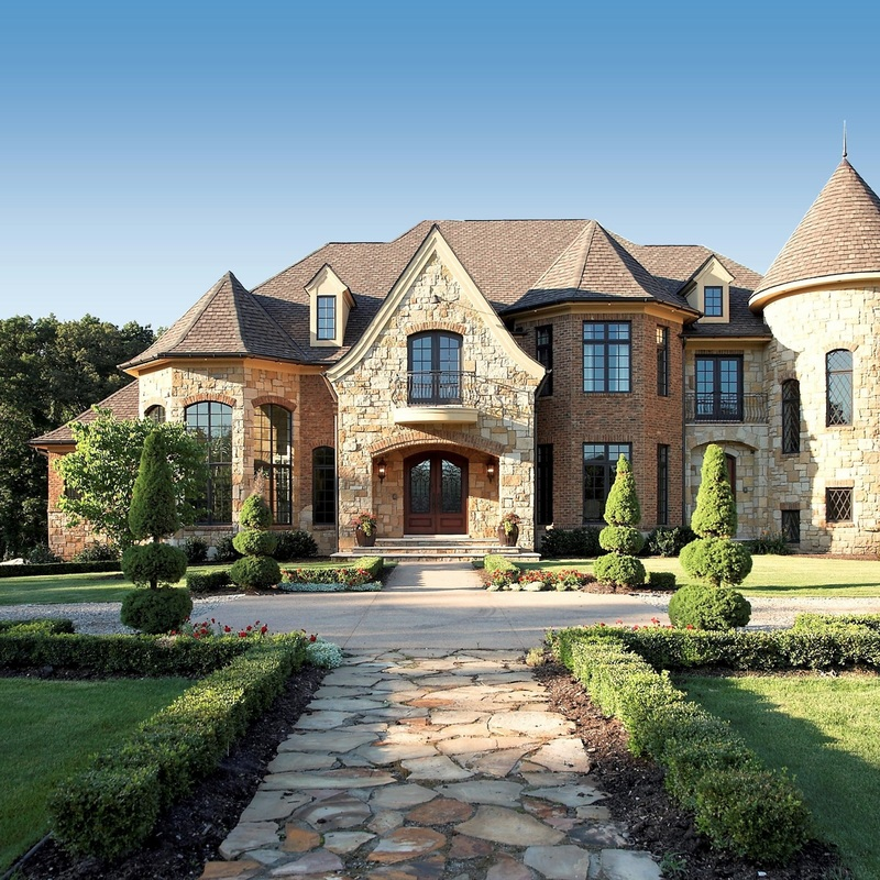 Attractive Luxury French Country Style Stone Exterior Designed By Custom Home  Architects Oakland County Michigan