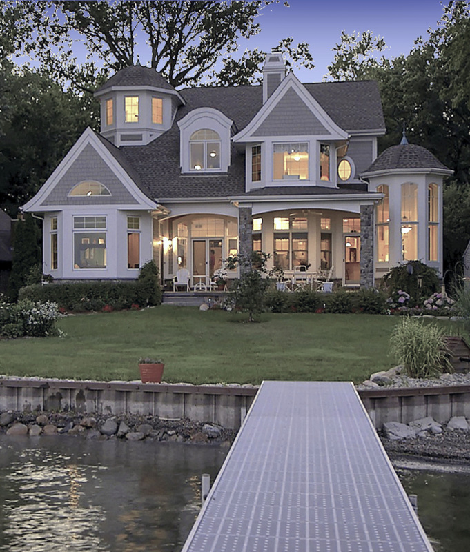 Shingle style lake house vanbrouck associates Lake house builders