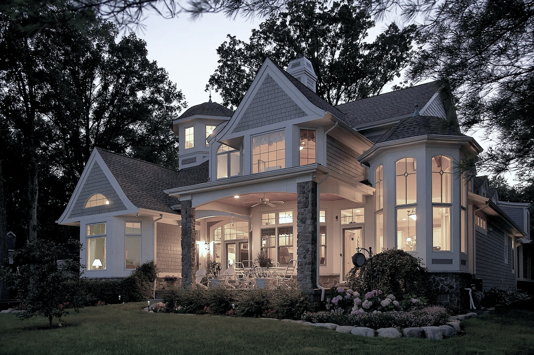 Shingle style lake house vanbrouck associates for Best lake house plans