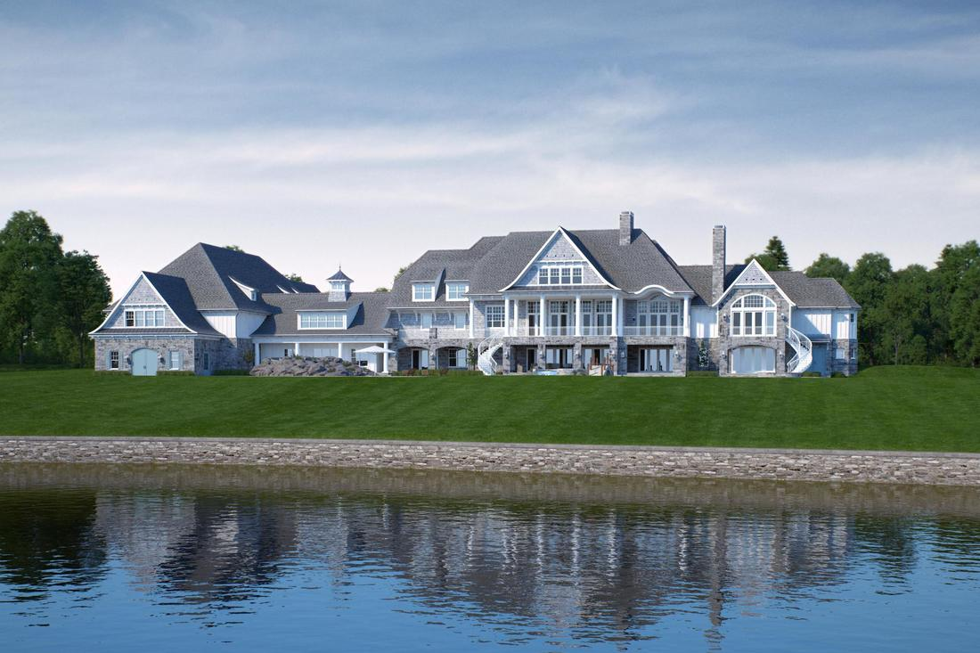 Classic shingle style high-end home.