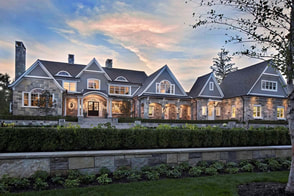 Vernacular shingle style luxury home.