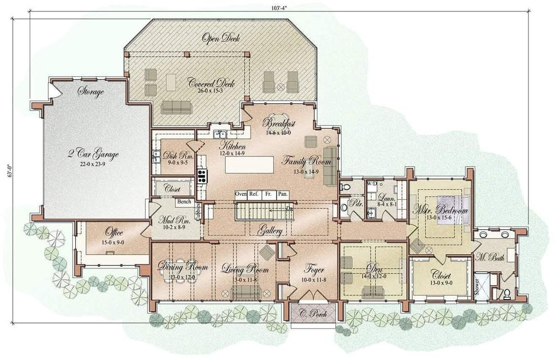 Floor plans prairie modern style vanbrouck associates for Prairie style floor plans