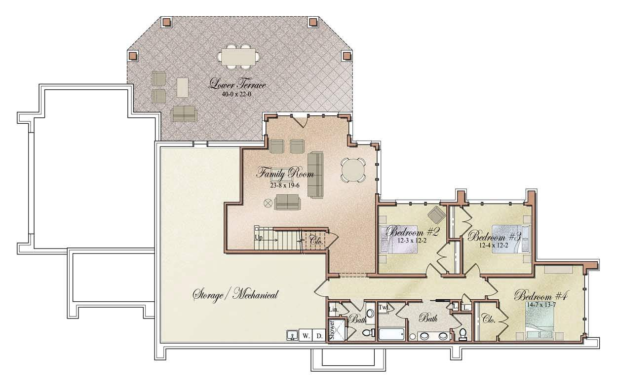 Floor plans prairie modern style vanbrouck associates for Prairie home floor plans